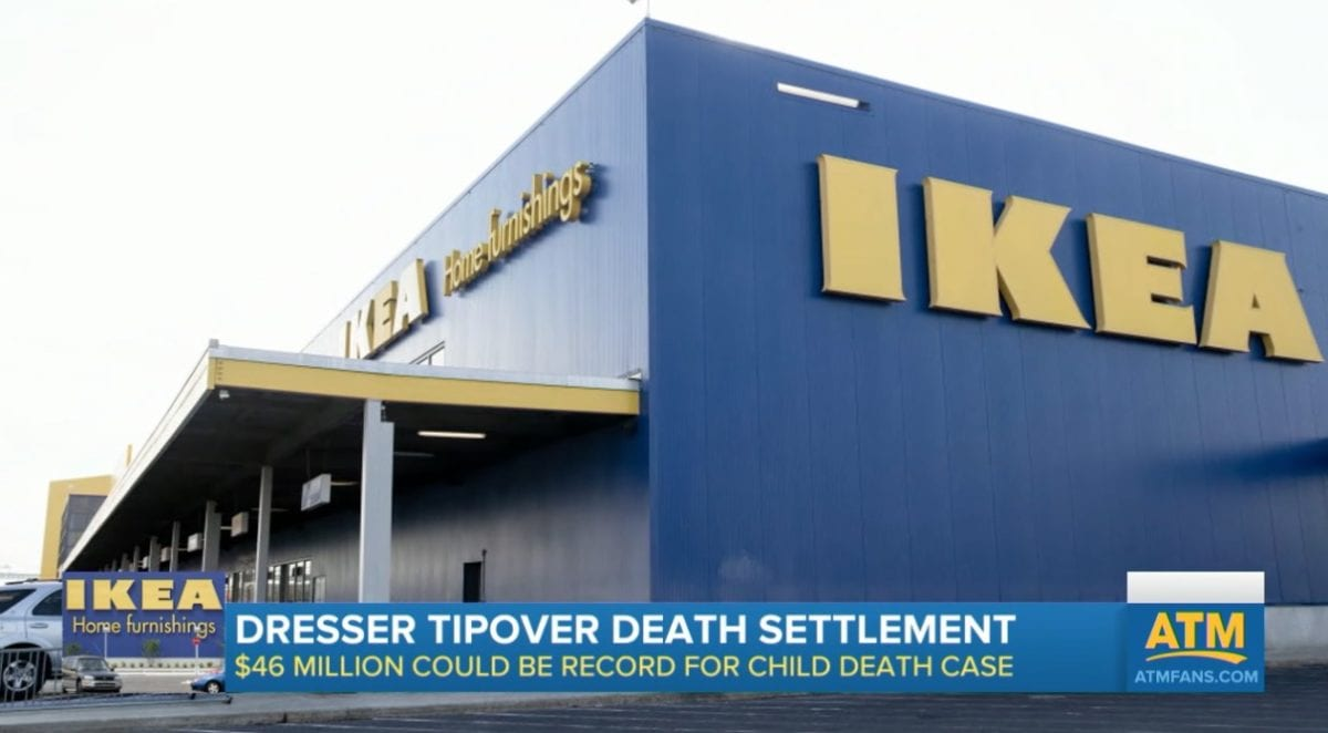 ikea agrees to pay historic $46 million settlement to parents of a 2-year-old who died after a dresser fell on him