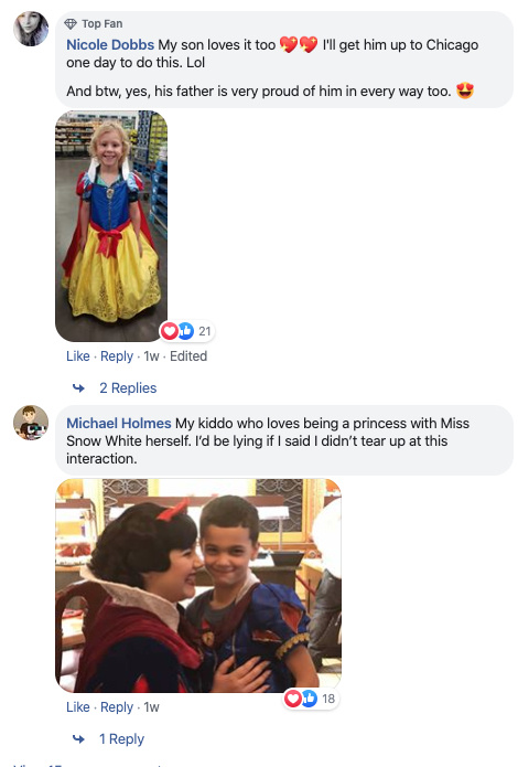 'boys can be princesses too' photos go viral on facebook: 'we can all be whatever we want to be when we play'