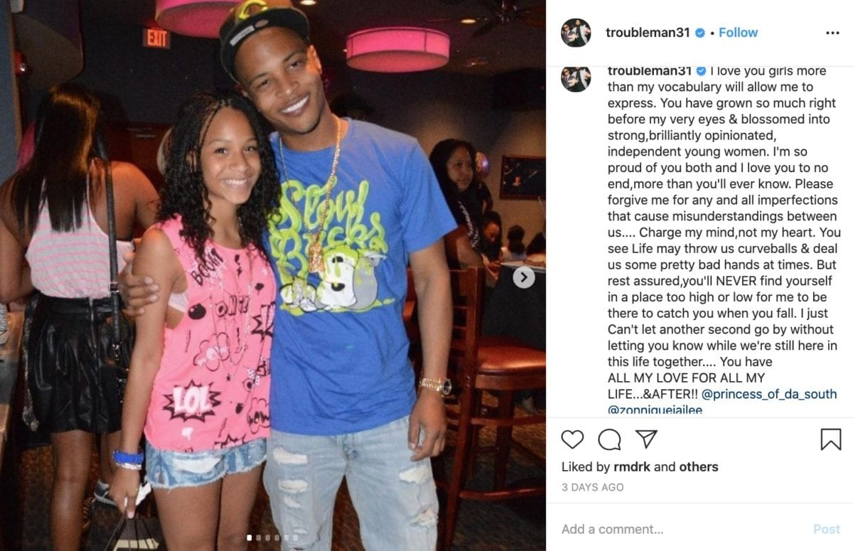 T.I. Apologizes to Daughters in Wake of Kobe Bryant Tragedy