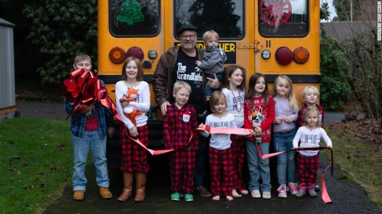 Doug Hayes: Meet the Grandpa Who Bought a Yellow School Bus Just So He Could Take His 10 Grandkids to School Every Day