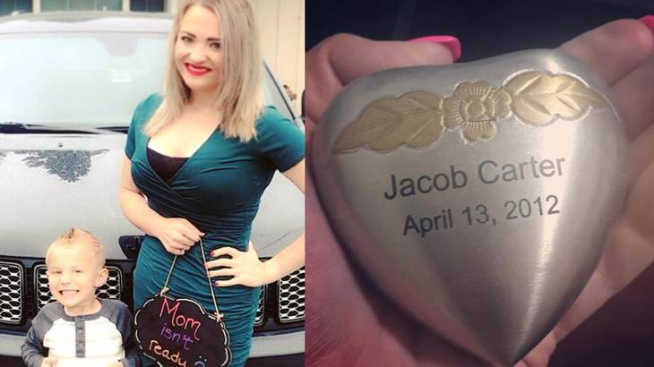 melissa carter: mom asks facebook community to help return her late son's ashes after they were stolen during a break-in