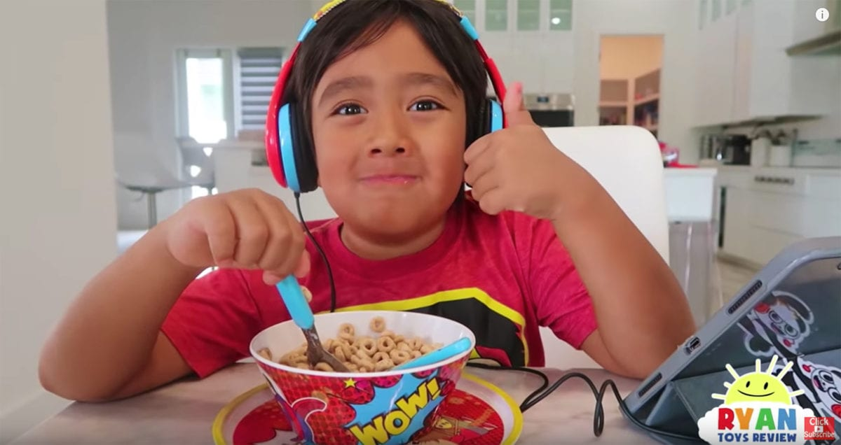 ryan kaji: this 8-year-old made $26 million (!) on youtube last year, making him the top earner on the platform (!!!)