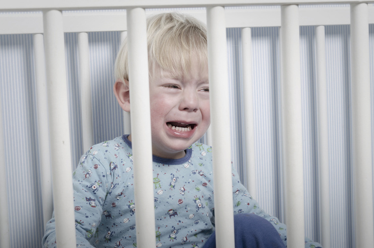 how can i get my toddler to stop screaming bloody murder every night when i try and put him to bed?