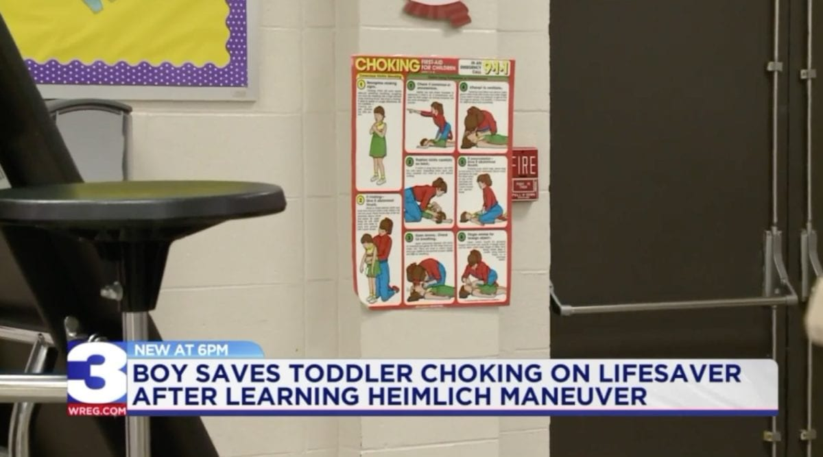 9-year-old saves cousin's life with heimlich maneuver