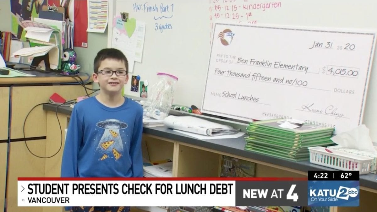 boy starts keychain business to pay off school's lunch debts