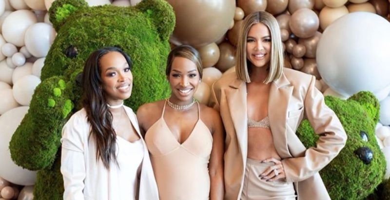 Khloe Kardashian Was By Her Best Friend Malika Haqq's Side During Her Beautifully Lavish Baby Shower