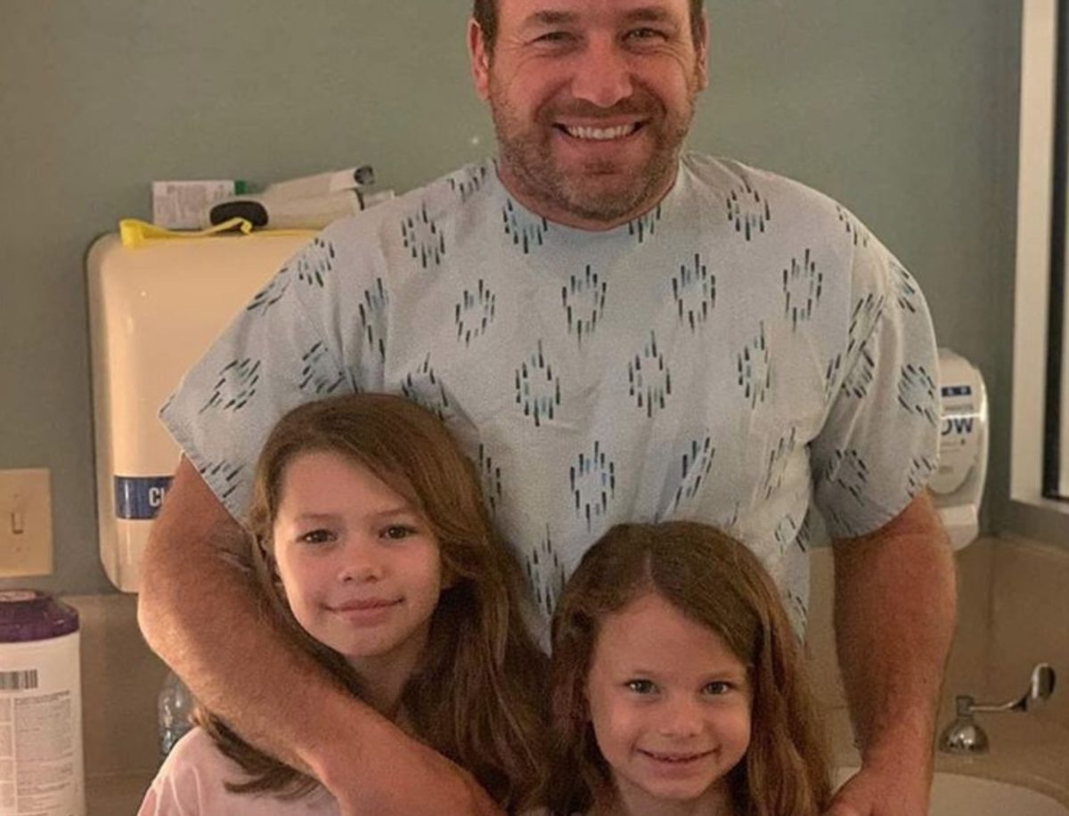 nascar's ryan newman leaves hospital hand-in-hand with his young daughters after disastrous daytona crash