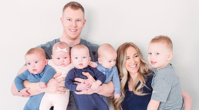 Mother of Five Reveals Details of Quadruplet Pregnancy Along With Amazing Before-And-After Photo