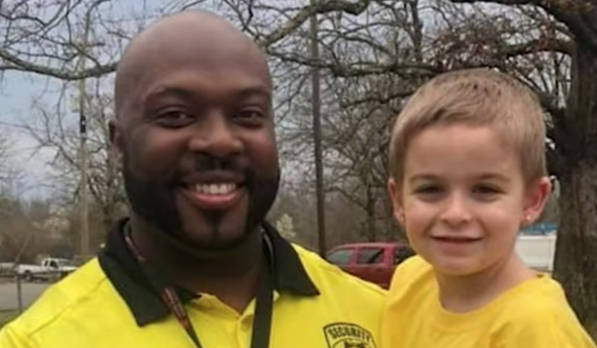 Five-Year-Old Goes Viral For Dressing Up Like His School Security Guard Because He's His Favorite Person