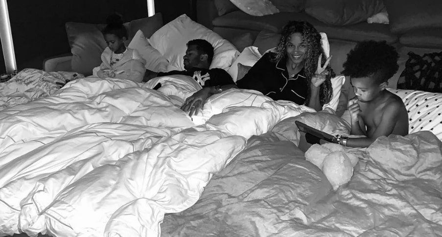 Pregnant Ciara and Hubby Russell Wilson Cozy Up In All Night Slumber Party With Kiddos