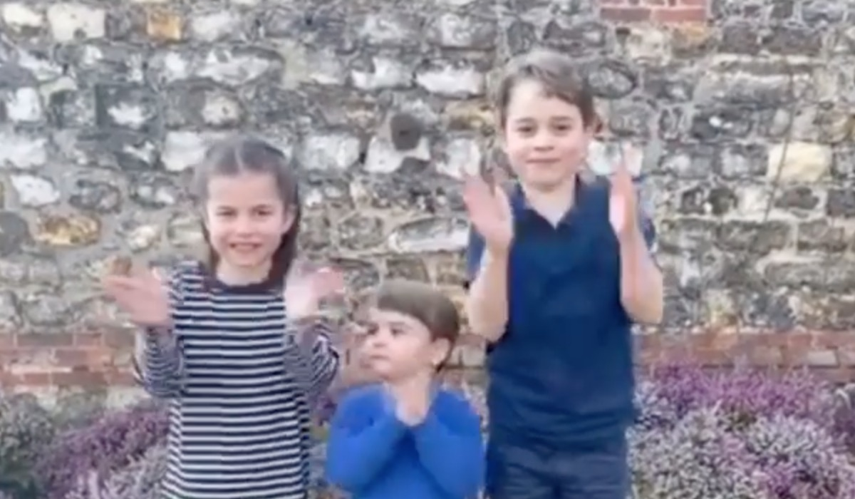 Kate Middleton Shares Video of Prince George, Princess Charlotte, and Prince Louis Clapping for Healthcare Professionals in Cute Video