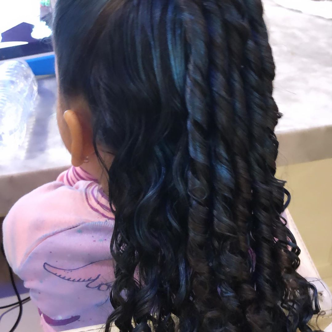 Blac Chyna Dyes Daughter's Hair, Her Blue Curls Are Precious