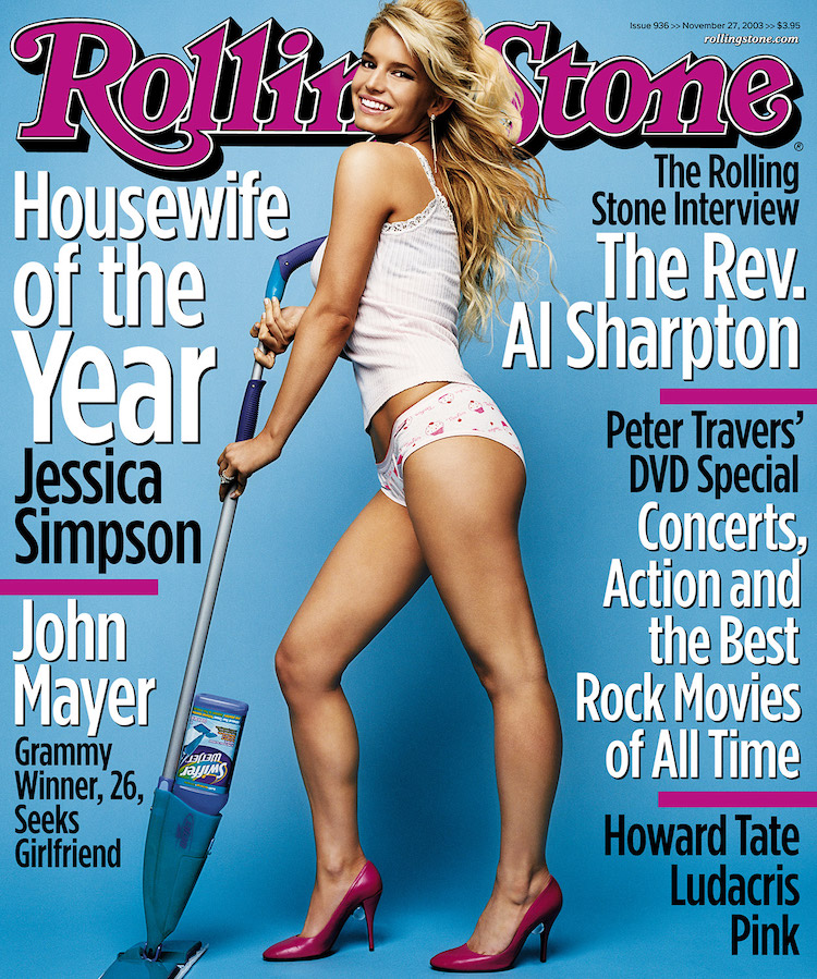 jessica simpson pokes fun at her infamous 'housewife of the year' magazine cover: 'looks a little different these days'