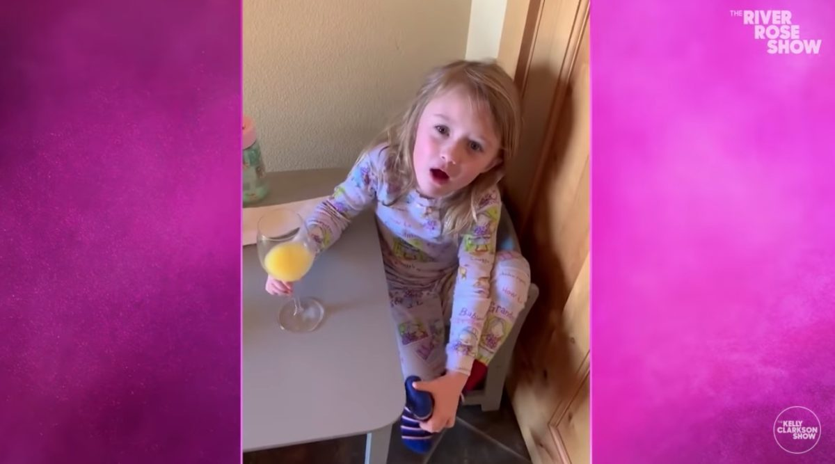 Kelly Clarkson's Daughter, River Rose, Is Taking After Her Mother As She Rocks Her Talk Show Intro