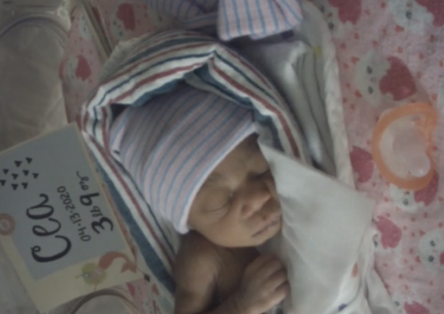 woman gives birth during violent nightime car crash, police find her 'miracle' baby