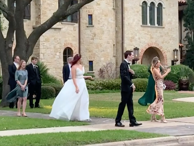 texas couple bummed after downsizing wedding get surprise parade