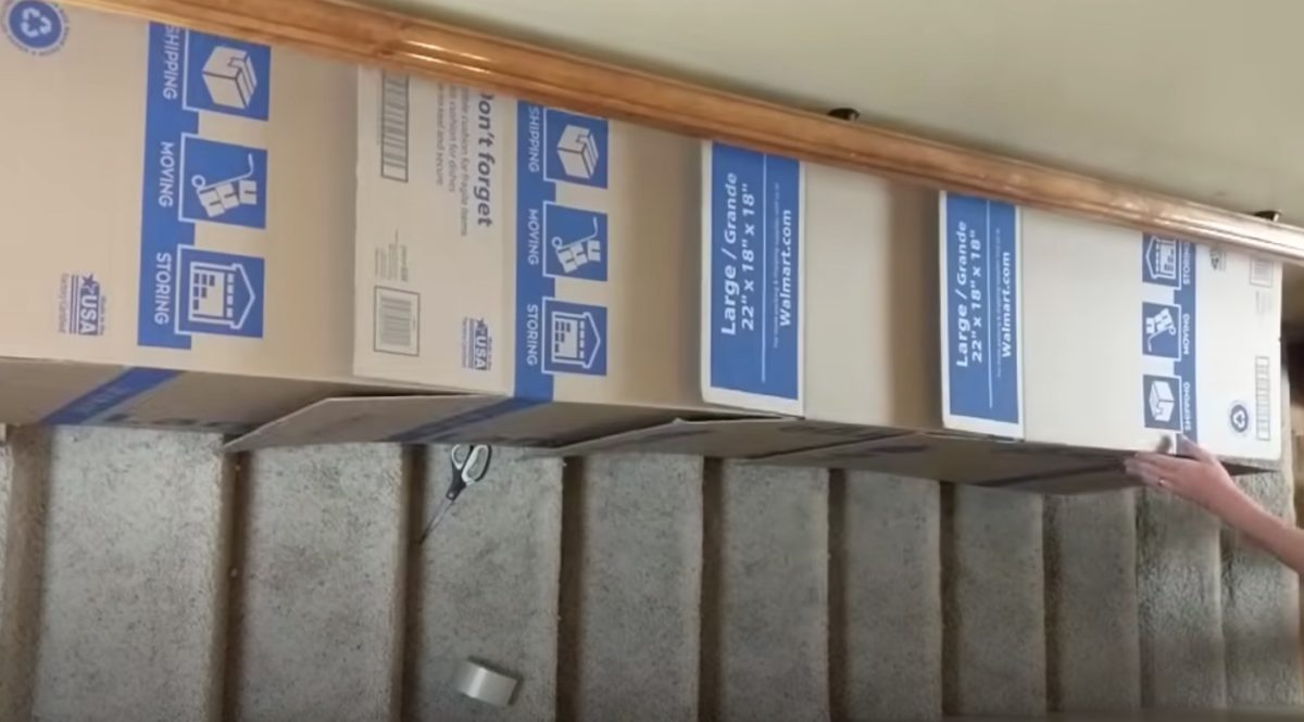 """dad creates quarantine slide in home for kids... you just need boxes and tape 