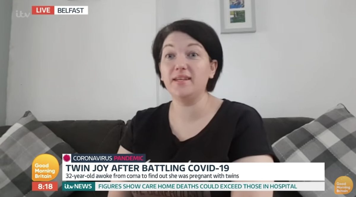 """mom wakes from 10 day medically induced coma after contracting covid-19, she also learns she pregnant with twins 
