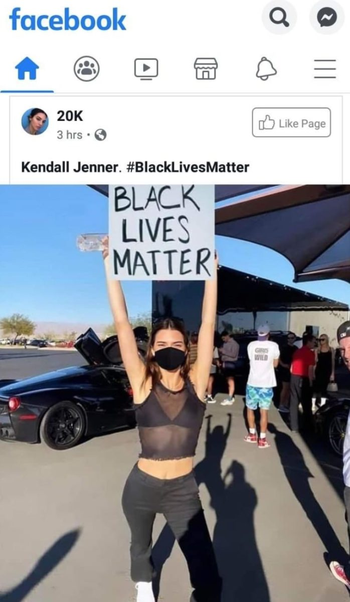 kendall jenner addresses 'photoshopped' blm picture