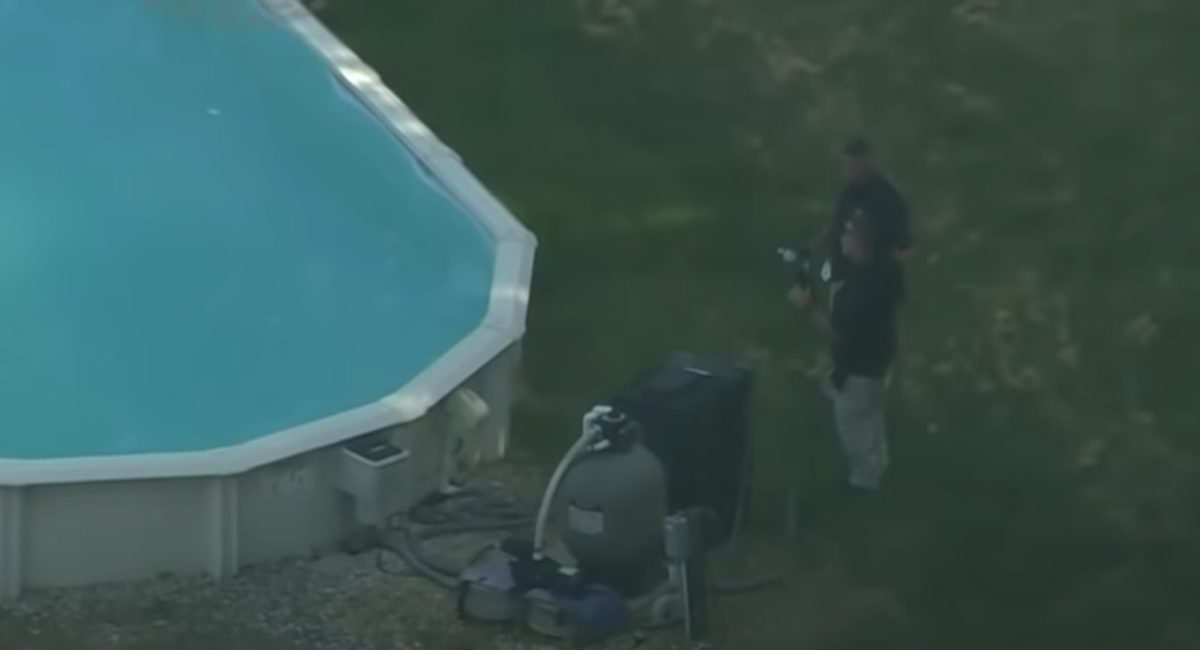 family drowns in above-ground pool as they could not swim
