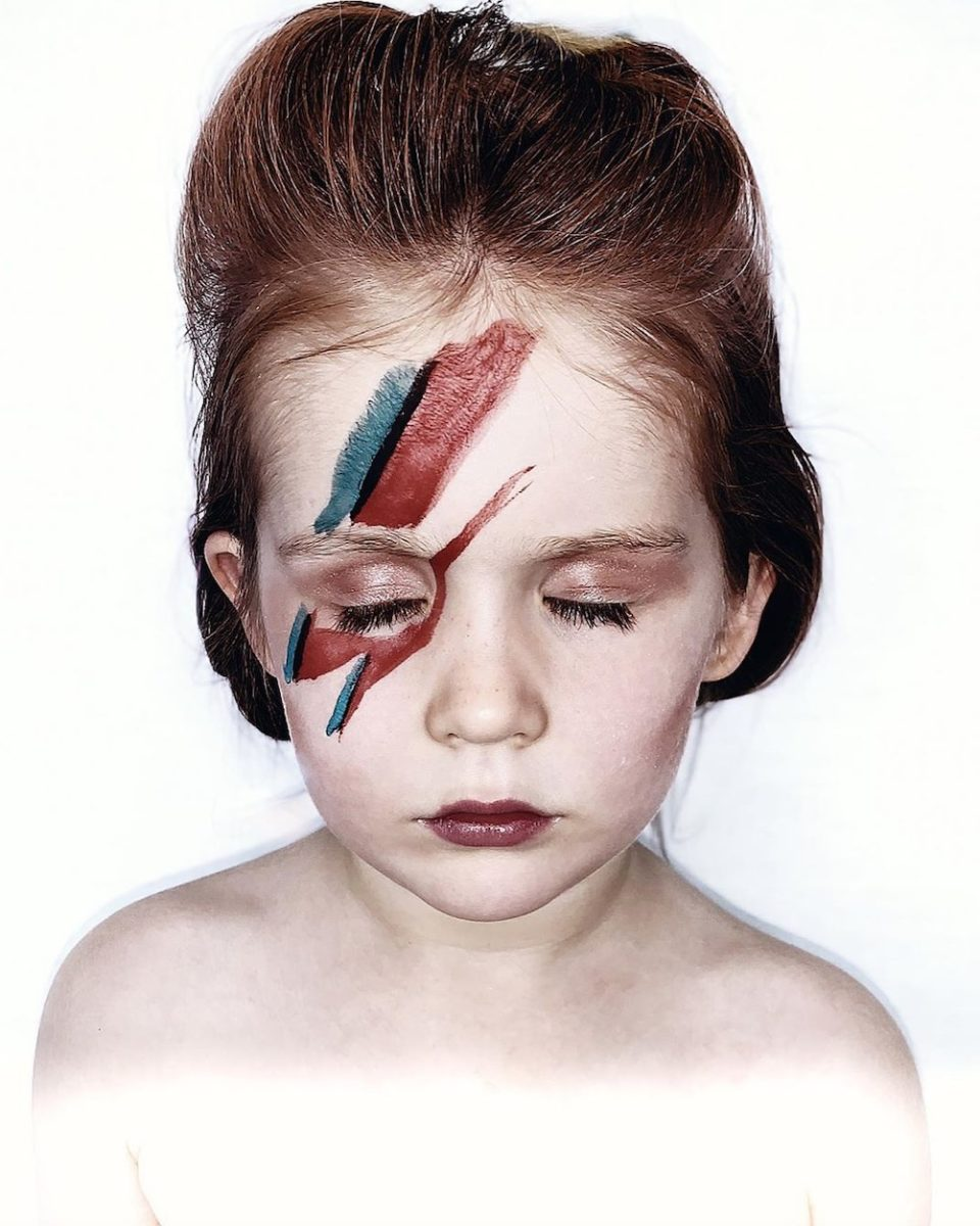 """professional photographer and her 5-year-old daughter recreate iconic album covers in quarantine 