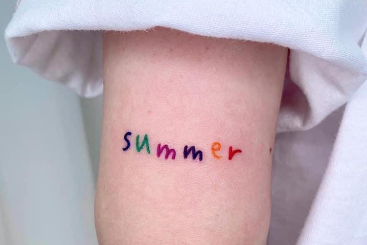 30 hot summery tattoos that celebrate fun in the sun