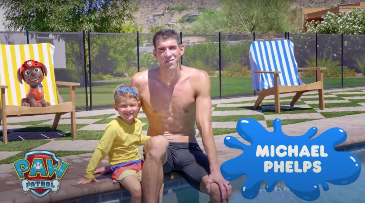 Michael Phelps And Son Teach Kids About Water Safety