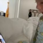 Amanda Kloot's Shared a Video of Her and Nick Cordero's Son Watching Videos of Him and Kissing the Phone Days After Nick's Passing