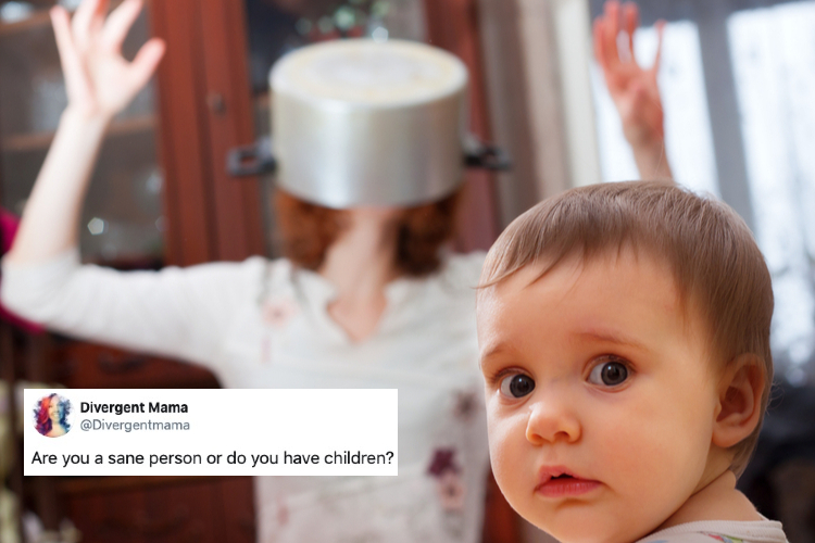 """25 funny tweets about life from divergent mama: """"a push-up bra, but for my mood."""""""