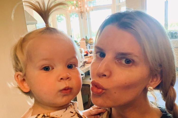 Jessica Simpson Dresses 16-Month-Old Daughter Birdie in Adorable Hand-Me-Down from 8-Year-Old Sister Maxwell