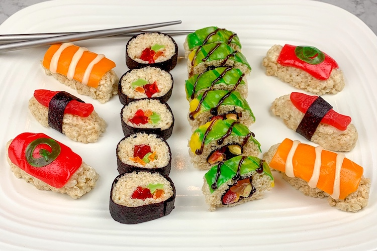 candy sushi is a fun and tasty treat for kids