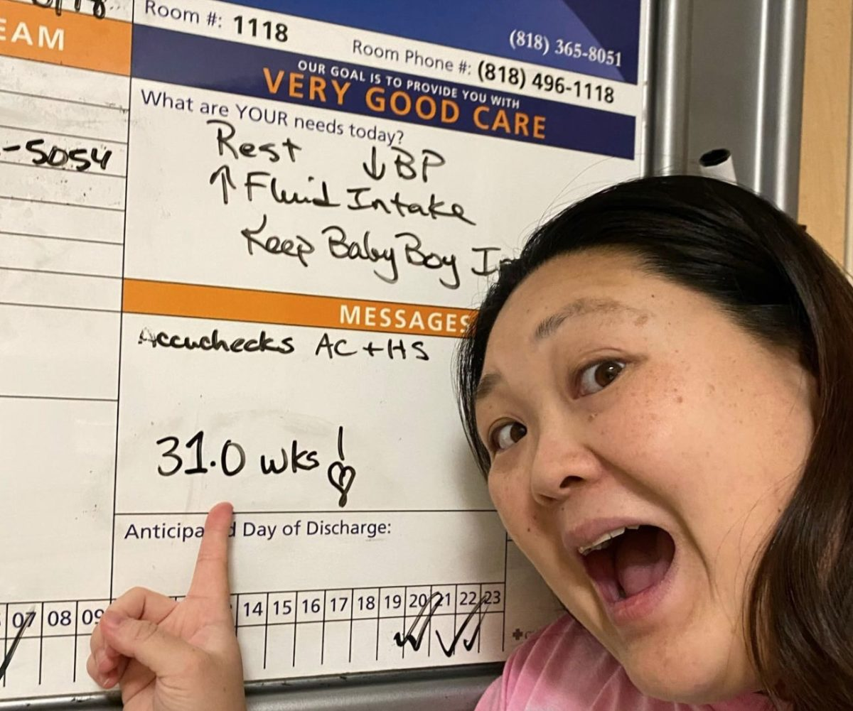 Pregnant Elementary School Teacher Teaches From Hospital Bed