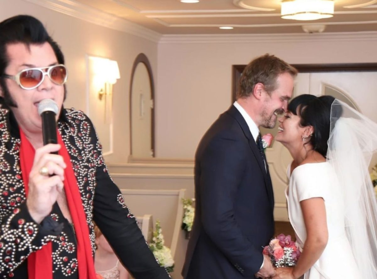 David Harbour And Lily Allen Married By Elvis In Vegas