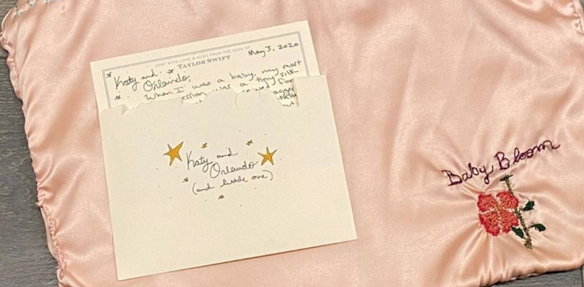Taylor Swift Gifts Katy Perry's Baby Hand-Embroidered Silk