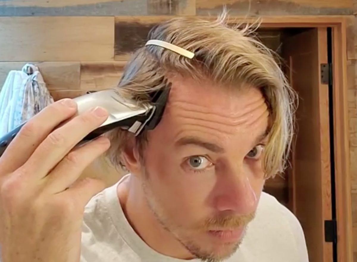 """kristen bell praises dax shepard for shaving his hair off to match their daughter's 