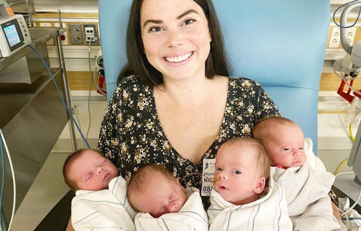 After Adopting 4 Siblings and Welcoming 1 Into the World, Mom and Dad Decided to Have Another...That's When She Learns She's Pregnant With Quadruplets