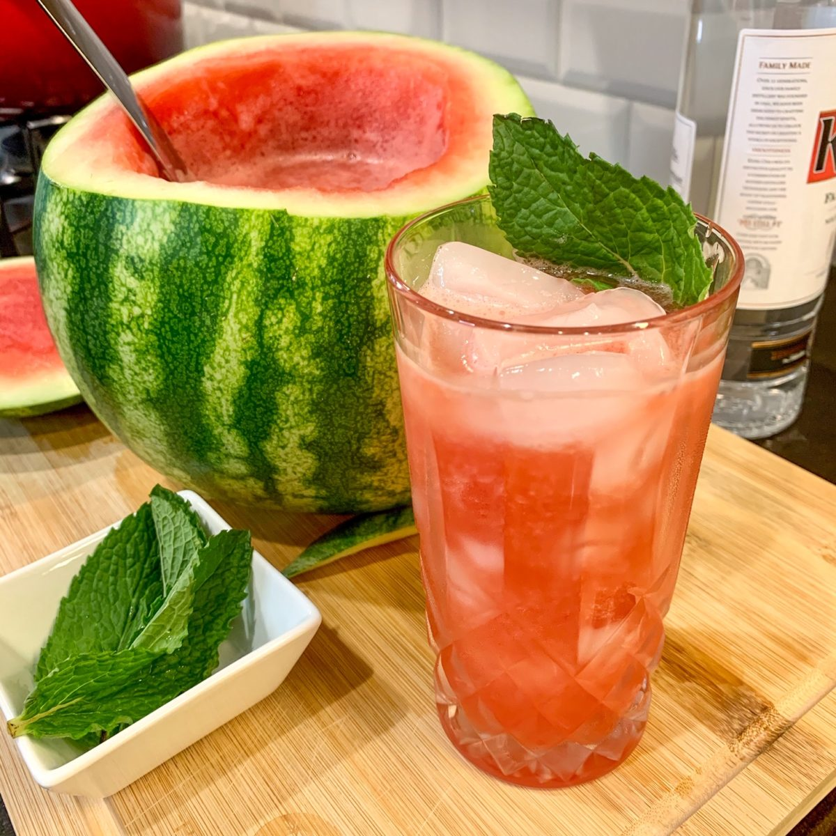 amy schumer's watermelon vodka punch bowl is festive with only 3 simple ingredients