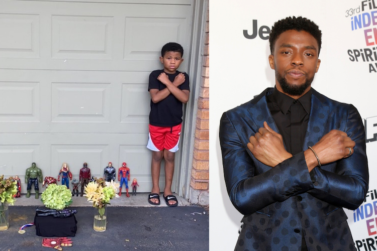 Family Behind Viral Black Panther Memorial Share How Chadwick Boseman Showed Them a Hero