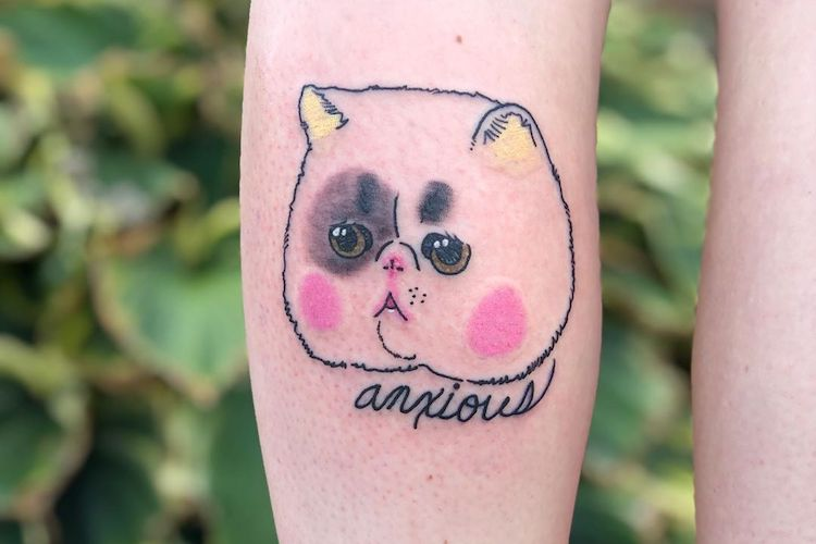 25 Anxiety Tattoos That Want You to Take a Breath