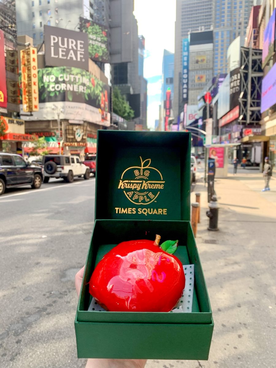 Krispy Kreme Times Square Exclusive Big Apple Doughnut