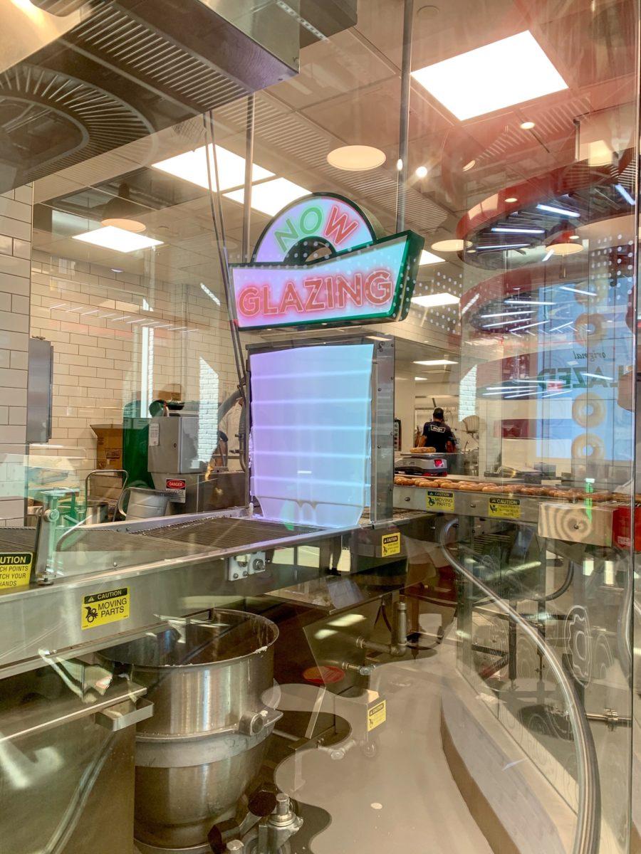 Krispy Kreme Times Square Experience Glaze Waterfall