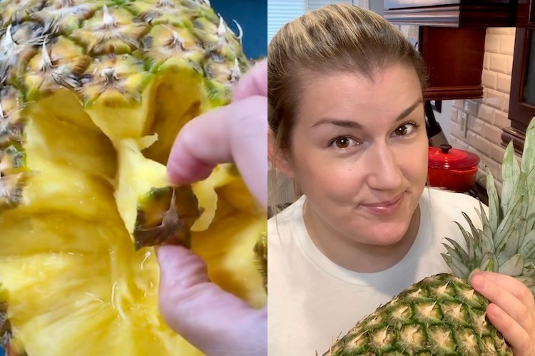 We Tried the No-Knife Pineapple Hack
