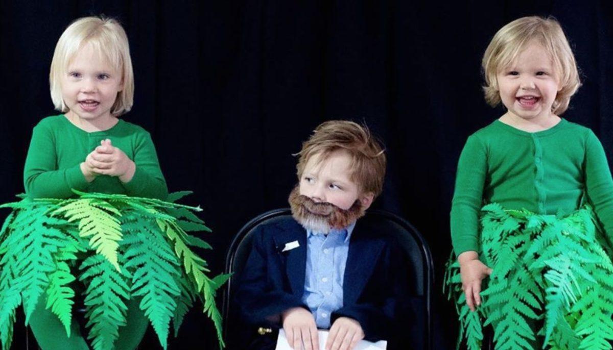 mom dresses kids as schitt's creek characters for halloween