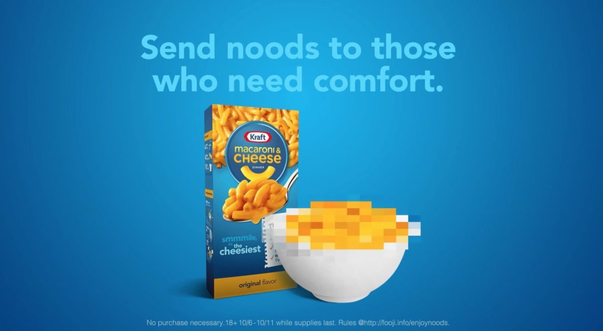 """furious mothers and qanon believers shut down kraft's """"send noods"""" campaign for sexualizing mac 'n' cheese 