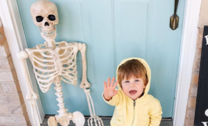 Toddler Brings Skeleton BFF Everywhere And It's Spooky Sweet