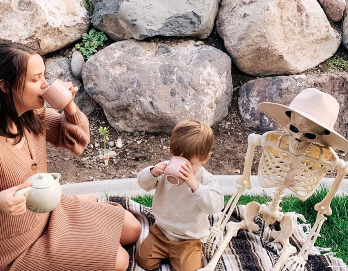 Toddler Brings Skeleton BFF Everywhere And It's Spooky Sweet