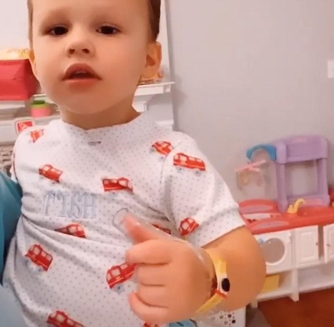 Meghan King Shows Off Hart's Anti-Thumb-Sucking Apparatus