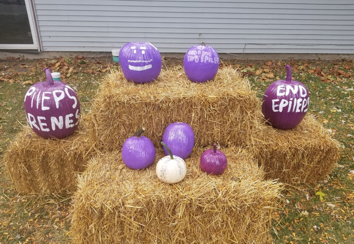 Why People Are Putting Out Purple & Teal Pumpkins This Year