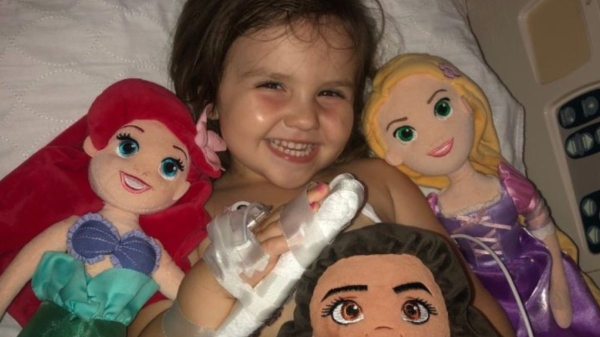 """mom says 3-year-old daughter is doing 'far better than all the adults in her life' after lawnmower accident takes her leg   """"she's not in a lot of pain day-to-day."""""""