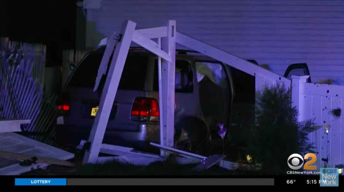 mom driving drunk with her 3 kids in the car careens into an empty at-home daycare   following the crash, you can hear thomas-smith's three daughters screaming in terror.
